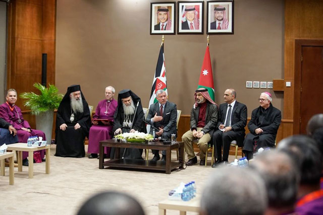 King receives Archbishop of Canterbury, leaders of Anglican churches from around the world