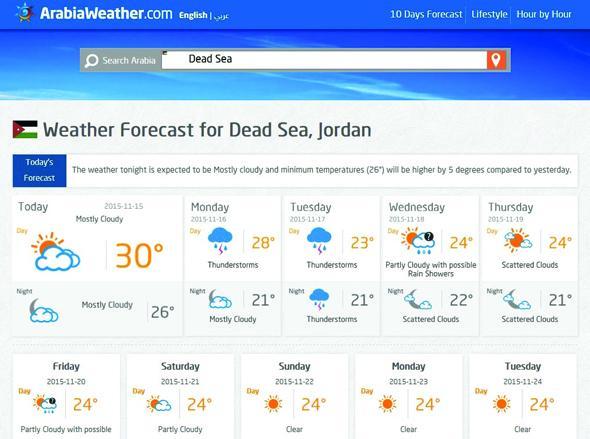 ArabiaWeather named 'Best Daily Helper' app by Google   Jordan Times