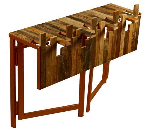 Jordanian Designer Displays Reclaimed Wood, Steel Furniture Collection