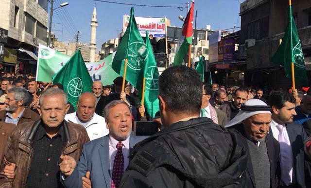 Stora protester i amman