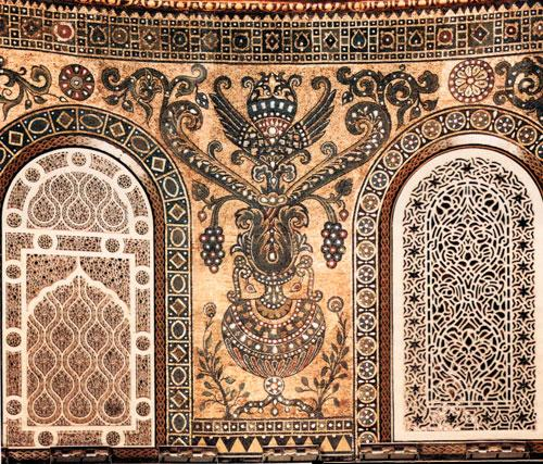 Restoration projects completed at Al Haram Al Sharif ... Dome Of The Rock Interior Mosaic