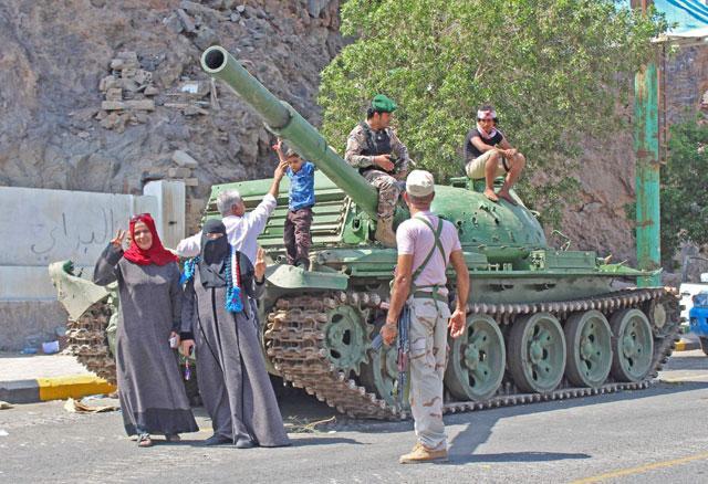 yemen separatists surround aden presidential palace jordan times
