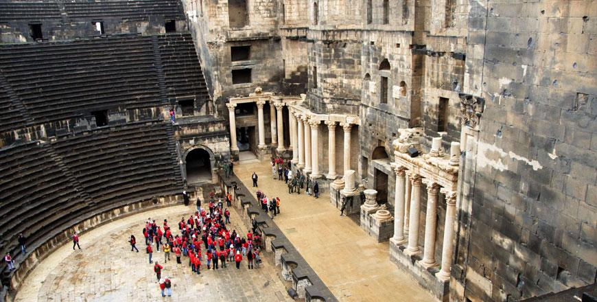 In Southern Syria Roman Theatre Survives Civil War Jordan Times