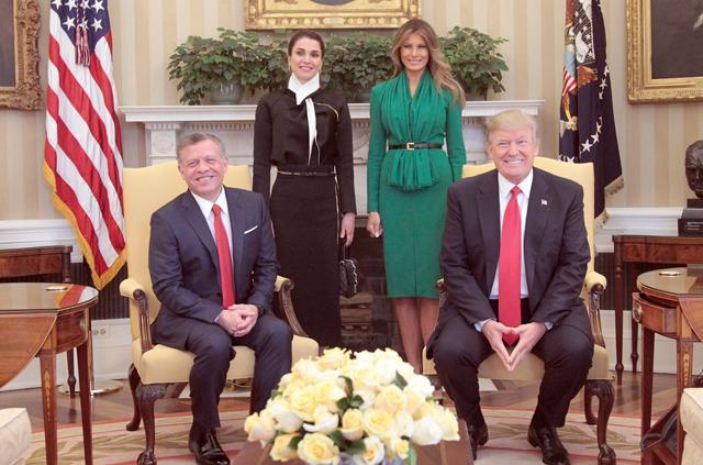Image result for abdullah meets trump