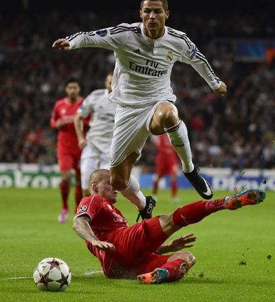 4b2568dc851 ... an under-strength Liverpool 1-0 to advance in the Champions League on  Tuesday although Cristiano Ronaldo failed to equal the competition scoring  record.