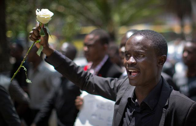 Kenyan University Students March To Demand Security In